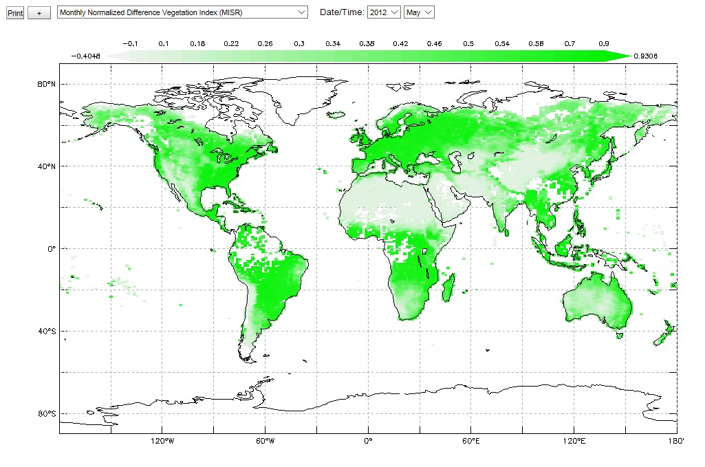 Monthly Normalized Difference Vegetation Index'