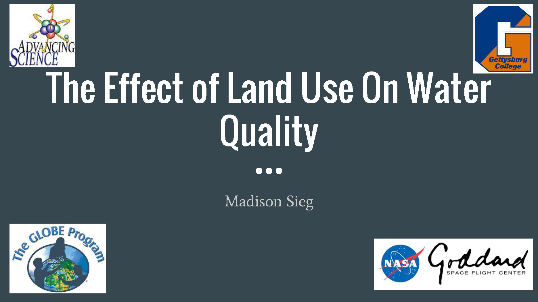 Effect of Land Use on Water Quality