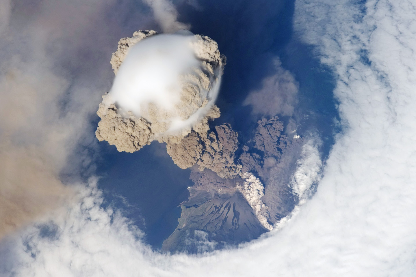 Sarychev Eruption: Image Credit- NASA