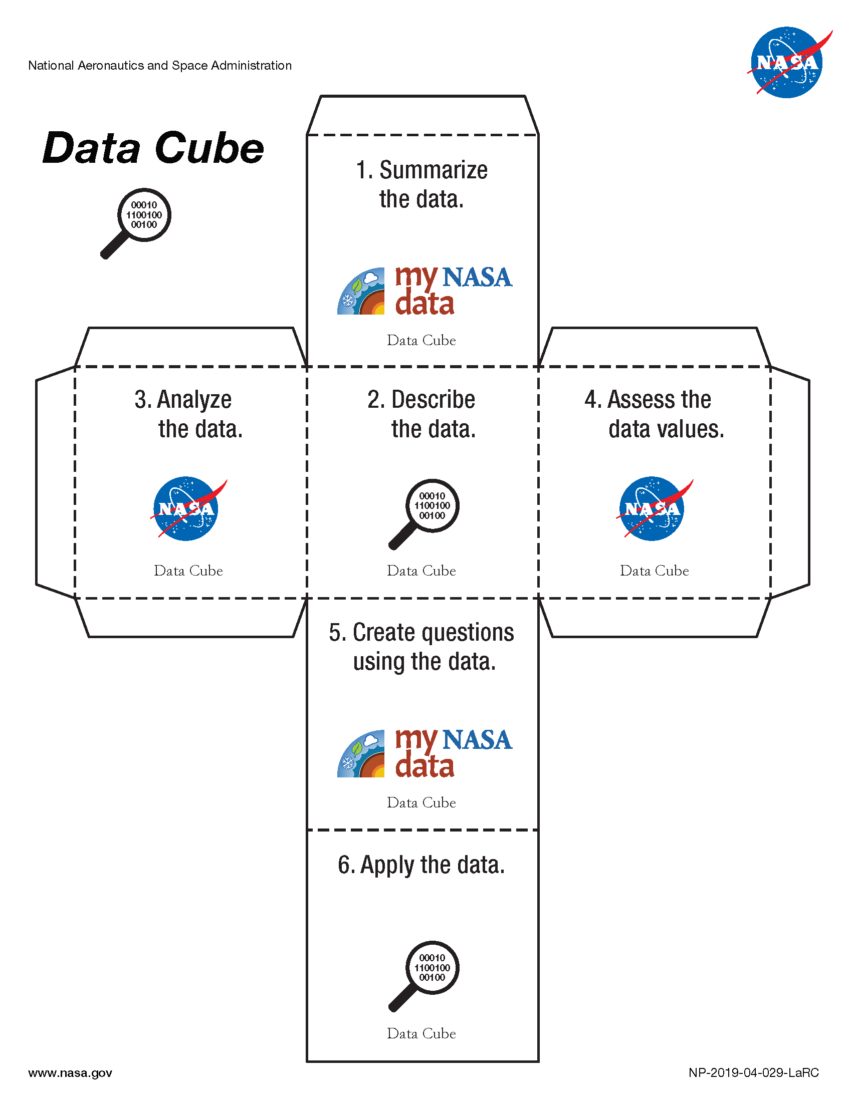 My NASA Data - Data Literacy Cube - Data Cube