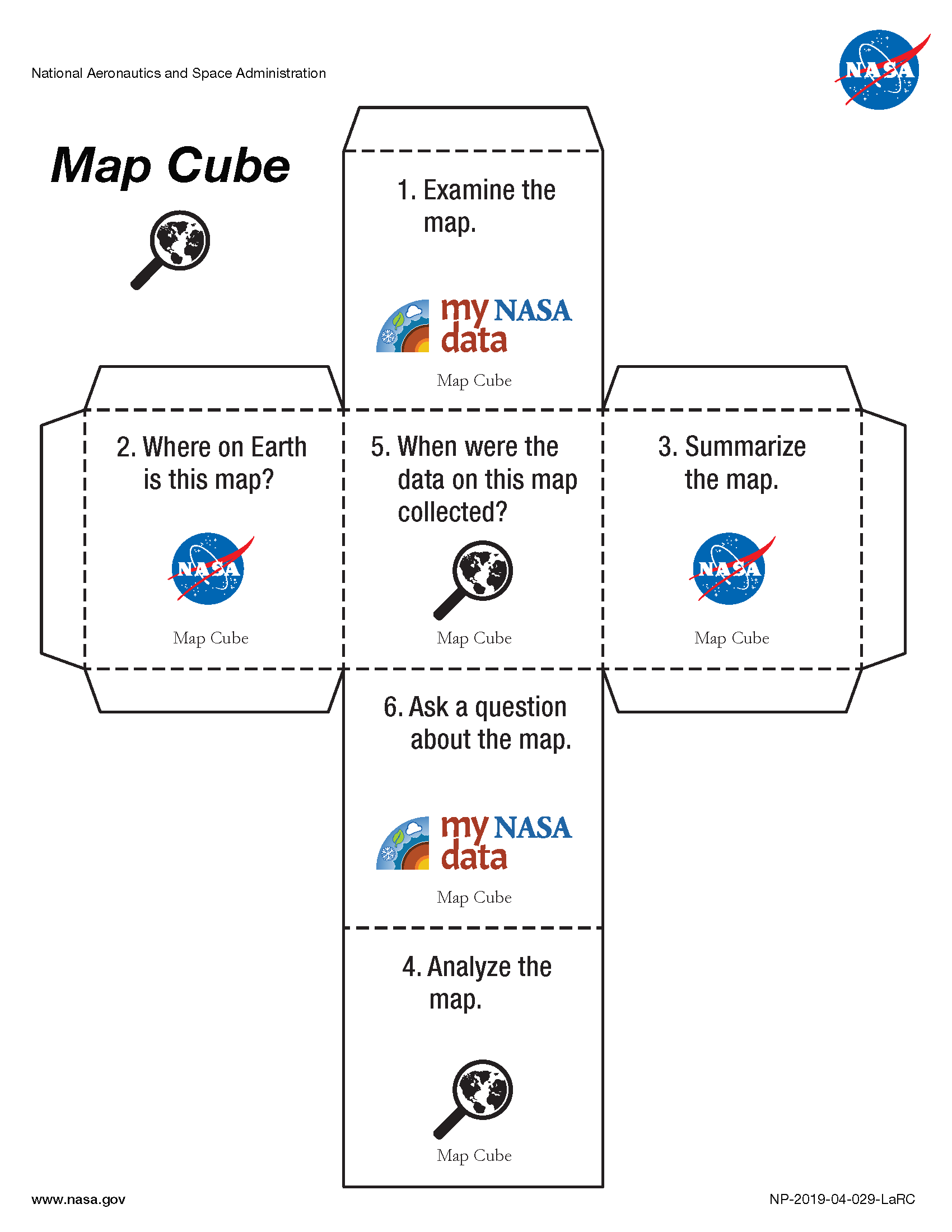 My NASA Data - Data Literacy Cubes - Map Cube Image
