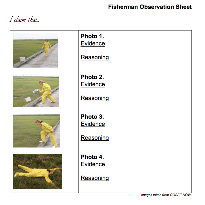 Fisherman Observation Sheet