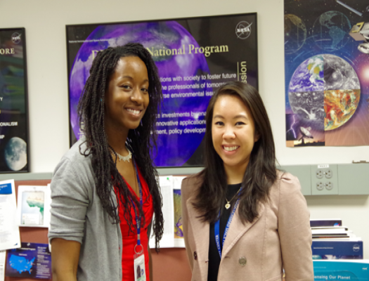 Melissa Oguamanam and Katrina Laygo, GSFC DEVELOP Center Leads, Image Credit: Melanie Rosenberg