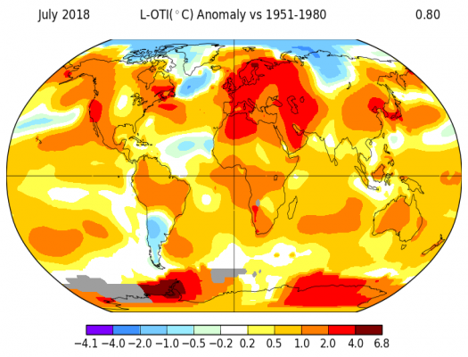 Surface Temperature Global Anomaly Map