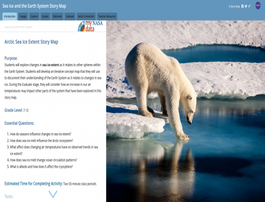 Sea Ice and the Earth System Story Map