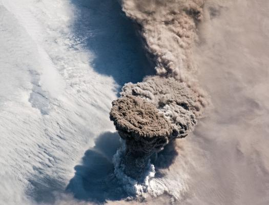 Raikoke Volcanic Eruption - Image Credit : NASA