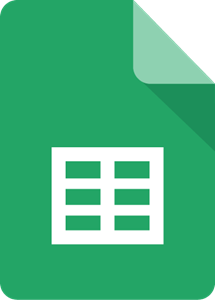Google sheets icon.