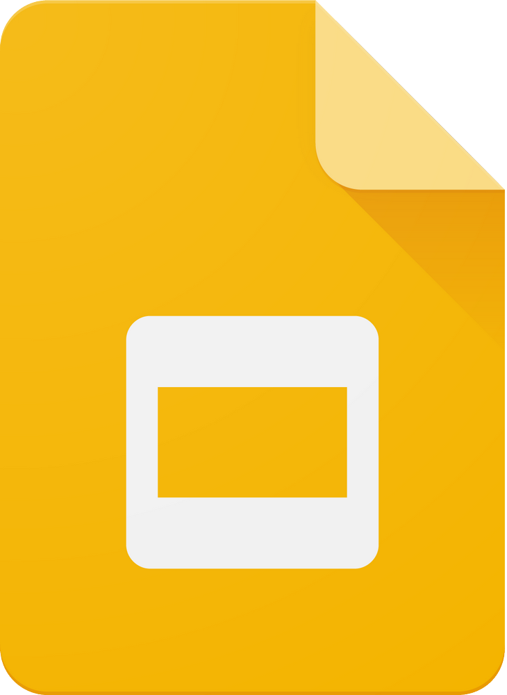 Google slides icon.